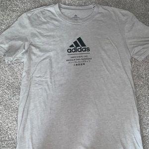 grey adidas tshirt